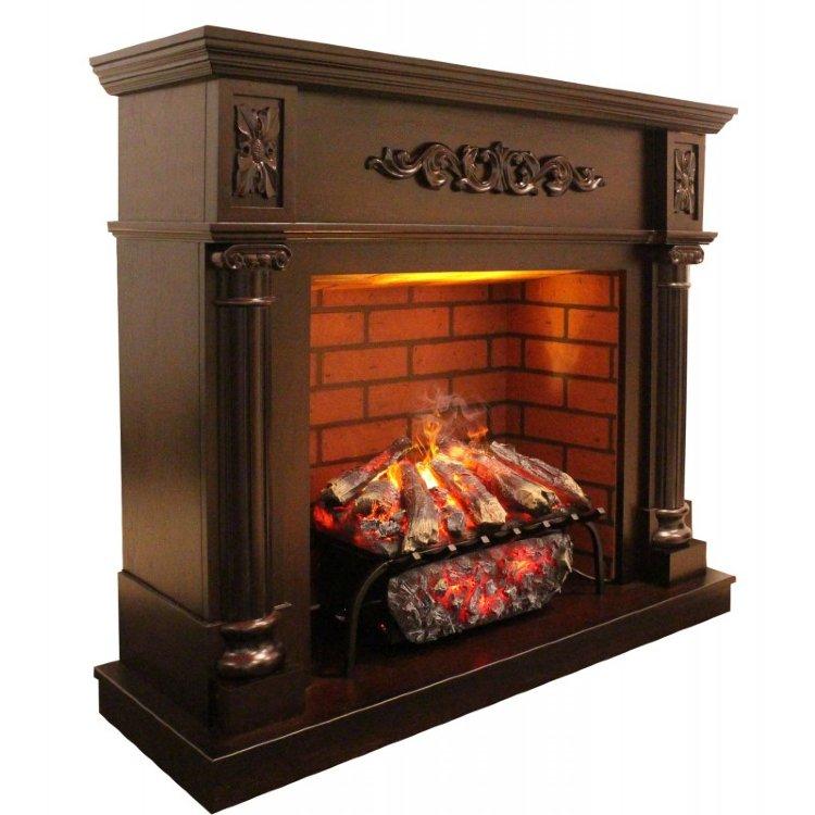 купить электрический камин с эффектом живого огня